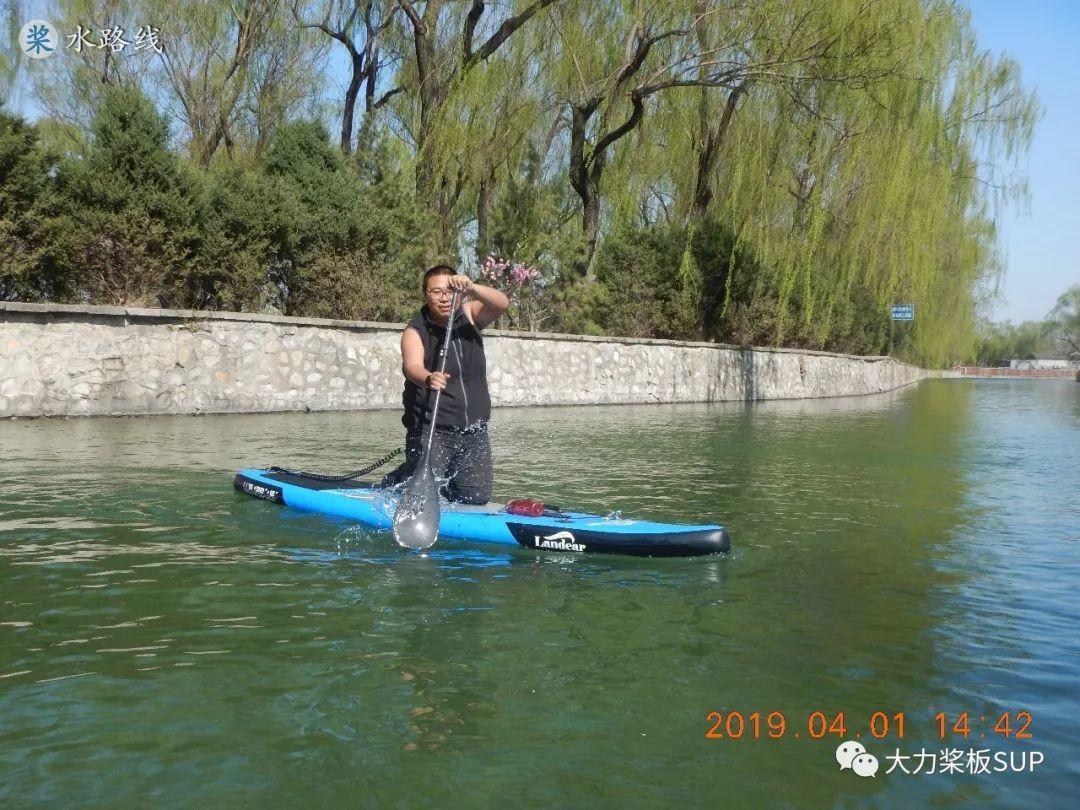 大力桨板SUP·视频评测-山东威海·LANDEAR蓝帝雅桨板·体重侠亲测!- 水路线