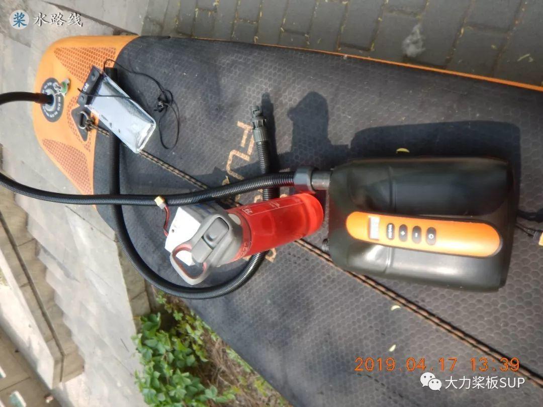大力桨板sup视频评测·SUP桨板专用电动气泵介绍&桨板3不借!- 水路线