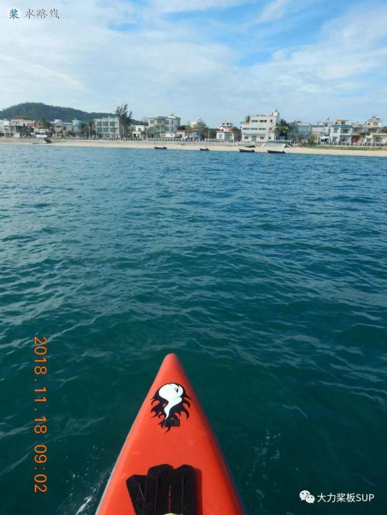 水路线 -SUP桨板环海南旅行之(6)今日17公里海划,西岛和南山大佛