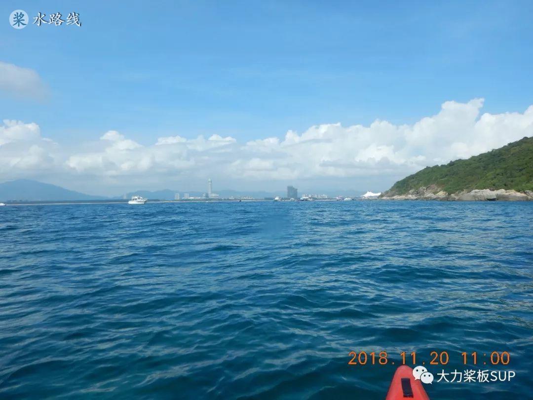 水路线 -SUP桨板环海南旅行之(8)桨板漏气 划蜈支洲岛 体验双体帆船