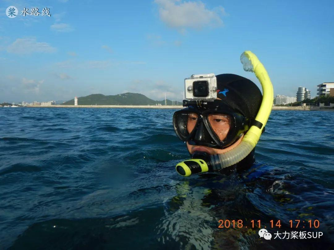 水路线 -SUP桨板环海南旅行之(2)鹿回头海滩-深海研究所浮潜