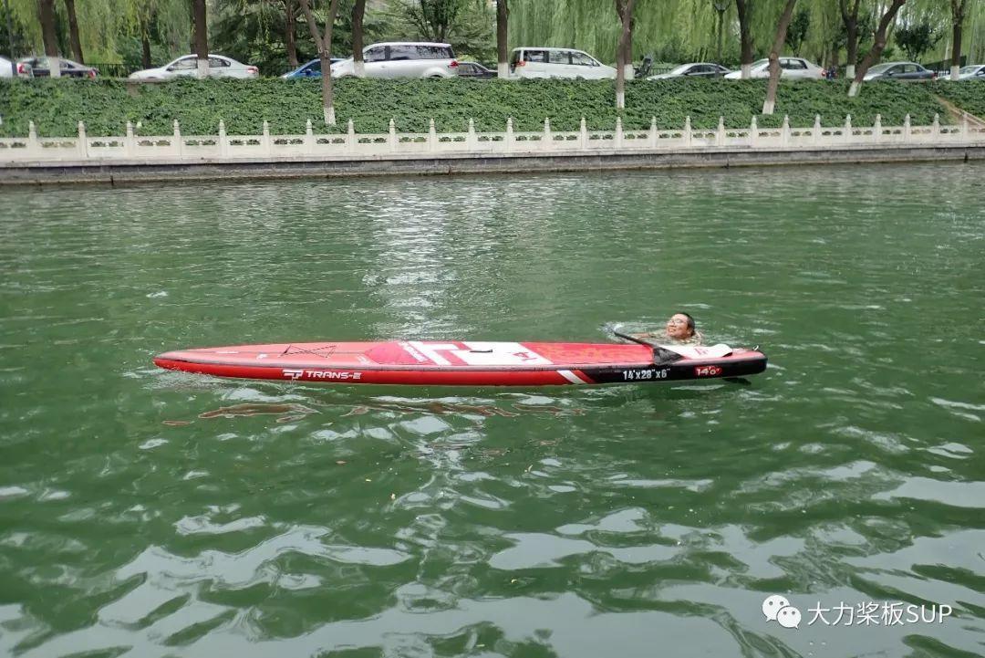 北京第一块 TRANS-E 创意2019新款14尺25寸·V底·竞速桨板开箱!